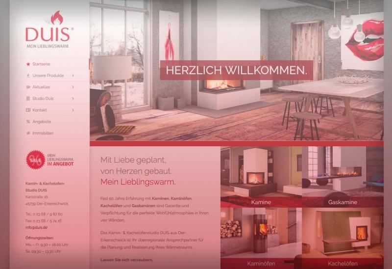 Unsere neue Webseite ist Online – Kaminstudio Duis
