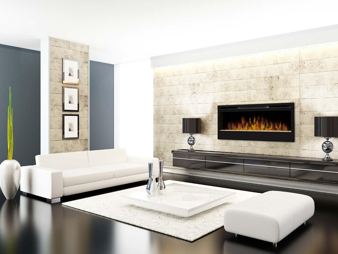 Panorama Elektrokamin von Faber Modell BLF50-LS mit großer Scheibe und toller Flammenoptik