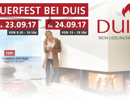 Feuerfest bei Studio DUIS am 23. & 24.09.2017