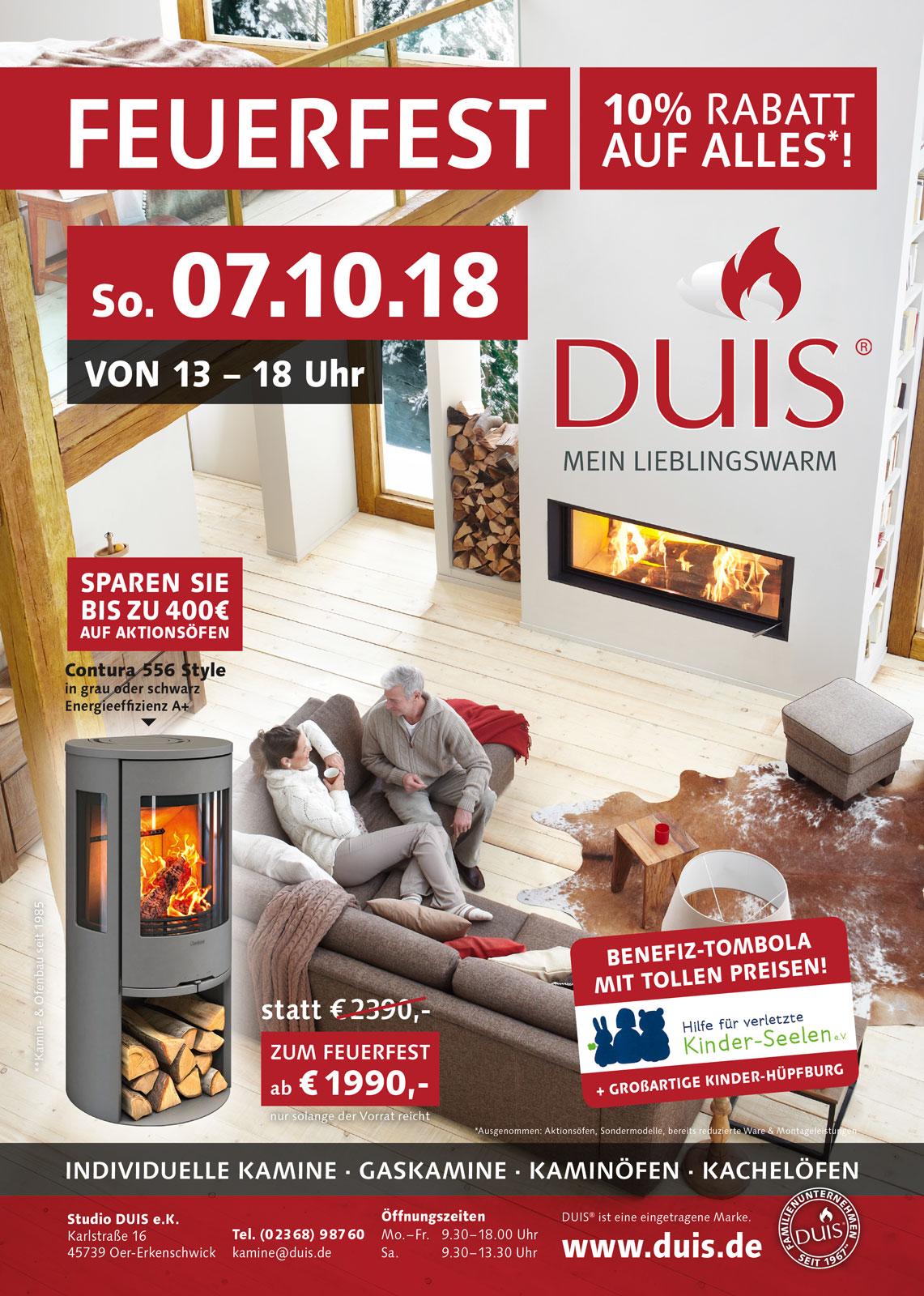 Feuerfest bei Studio DUIS – Benefiz-Tombola mit tollen Preisen und 10% Rabatt auf alles!