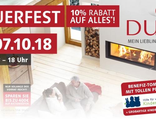 Feuerfest am 07.10.2018 – Benefiz-Tombola – 10% Rabatt auf alles!